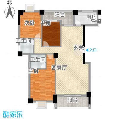 未来海岸系天籁13.57㎡A户型3室2厅2卫