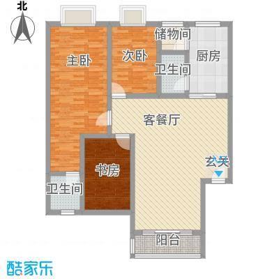 连平花园5.00㎡户型3室2厅1卫1厨