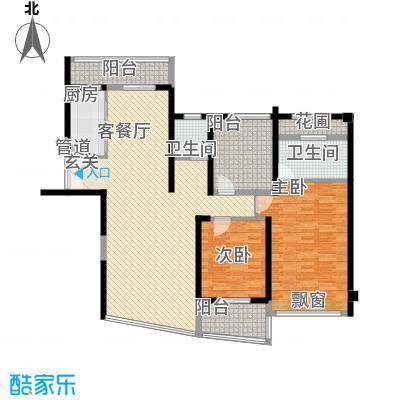 新华大厦2居户型2室2厅2卫1厨