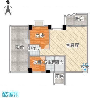 俊景花园156.00㎡户型