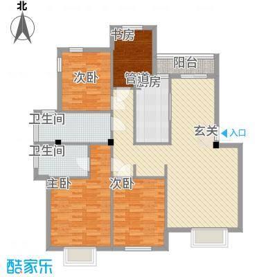 仙枰苑户型4室2厅1卫1厨