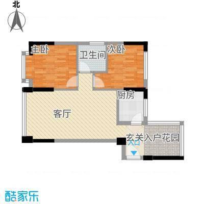 领寓78.00㎡户型2室2厅1卫1厨
