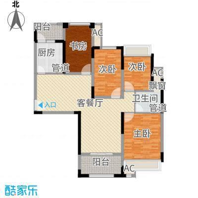 华邦光明世家111.00㎡10#11#楼C可创变户型4室2厅1卫1厨