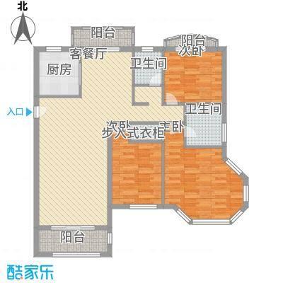 市政天元城126.00㎡户型3室