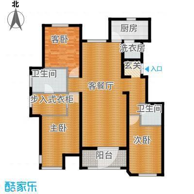 万科柏翠园170.00㎡A户型3室2厅2卫-副本