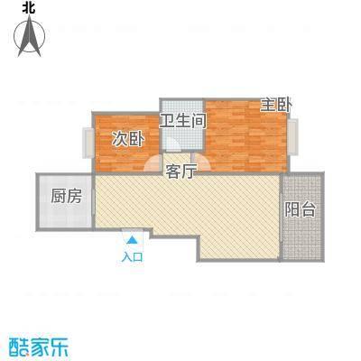 城际景苑88方户型两室一厅-副本