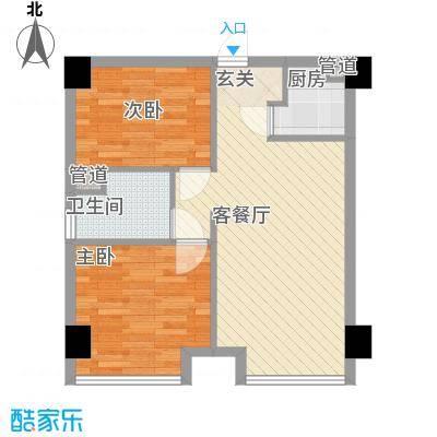 又一村户型2室1厅1卫1厨