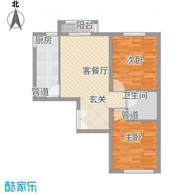 东柳新村户型2室1厅1卫1厨