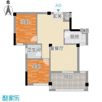 东柳新村户型2室2厅1卫1厨