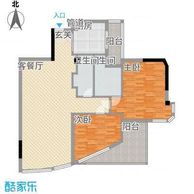 世纪银座户型2室2厅
