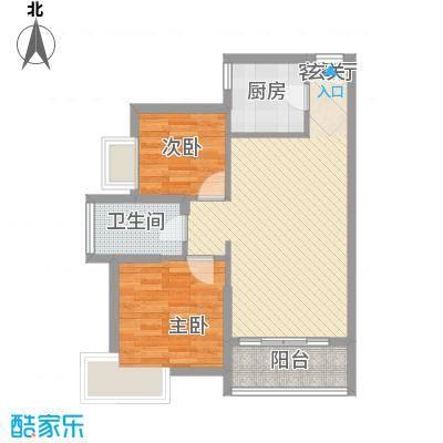 丽水佳园88.00㎡户型3室