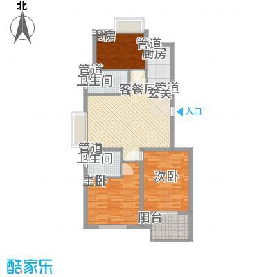 新浦江城16.00㎡户型3室