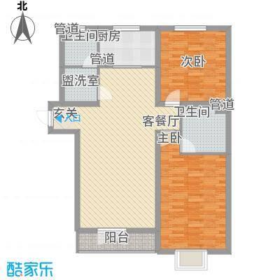 西城新村户型2室1厅1卫1厨