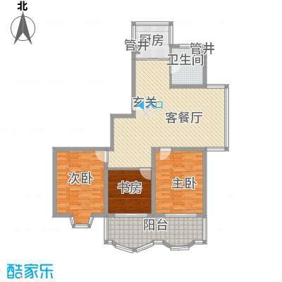怡江春色16.00㎡N户型3室2厅1卫1厨