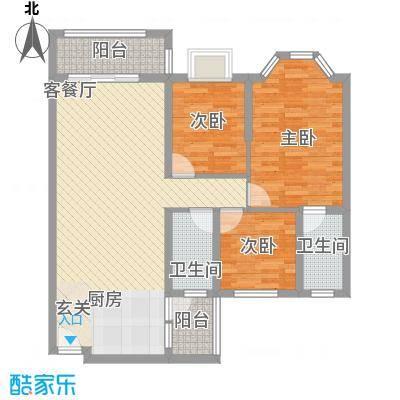 鸿海豪庭113.00㎡户型