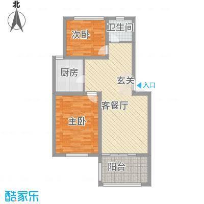 紫金花园3户型2室1厅