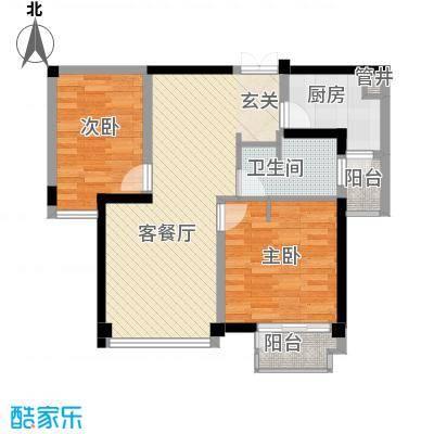 世纪东方商业广场88.12㎡户型2室2厅1卫1厨