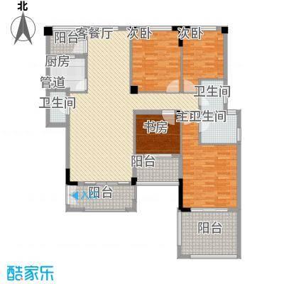 碧海蓝天146.15㎡G1'型户型4室2厅2卫1厨