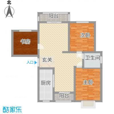 嘉华里6户型3室2厅2卫1厨