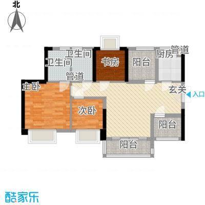 深业东城御园78.00㎡户型3室