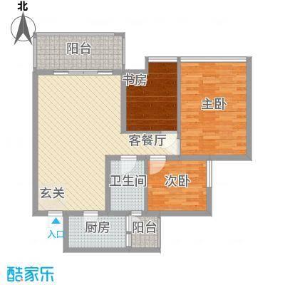 凌志大厦31户型3室2厅2卫1厨