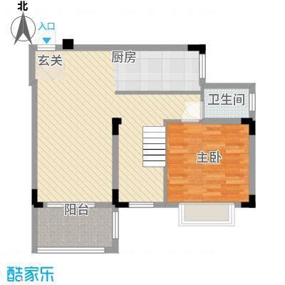 盈彩美地155.00㎡E型复式一层户型4室2厅2卫1厨