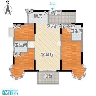 裕景名苑13.00㎡户型3室