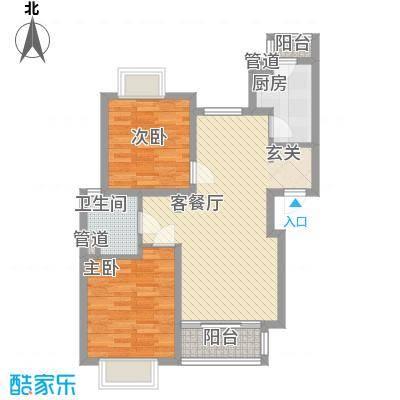 新梅共和城86.21㎡上海户型