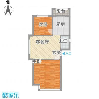 莲花花园34户型2室2厅1卫1厨