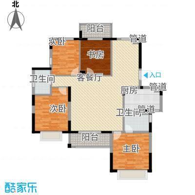 银亿海尚广场154.00㎡E3+E4户型4室2厅2卫1厨
