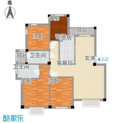 香榭丽舍户型4室2厅1卫1厨
