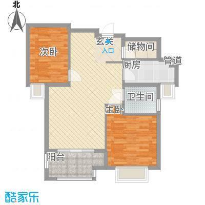 联谊广场户型2室2厅2卫1厨