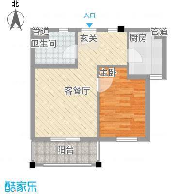 维科半山佳园5.51㎡B2户型1室2厅1卫