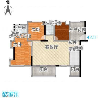 南江绿苑户型3室1厅1卫1厨