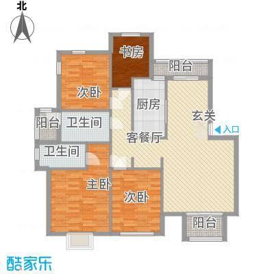 天水华都户型4室2厅1卫1厨
