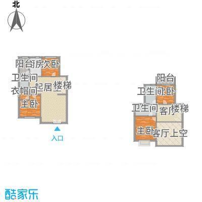御之苑164.21㎡7、8号楼1跃2层01单元户型4室3厅3卫1厨