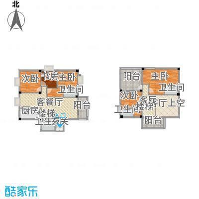 御之苑215.40㎡1号楼1梯11跃12层01单元户型5室4厅3卫1厨