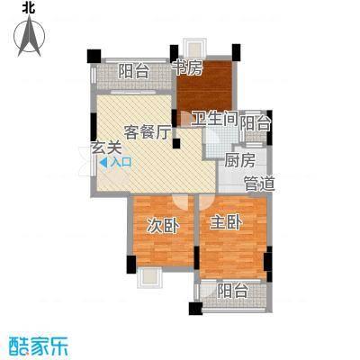 香榭花都(金永昌家园)香榭花都3居户型3室2厅2卫1厨
