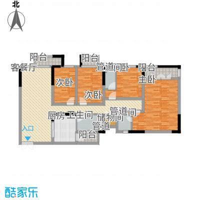宏晴轩153.00㎡户型4室2厅3卫1厨