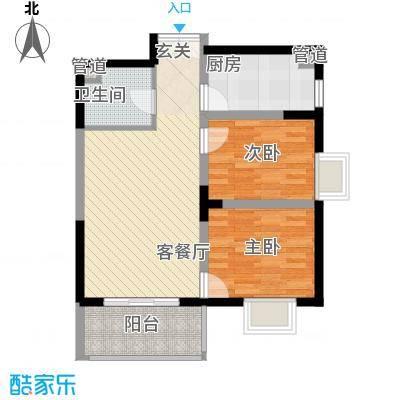 新兴骏景园78.23㎡一期户型2室