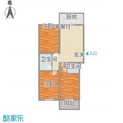 假日・双星楼台33户型3室2厅2卫1厨