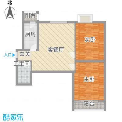 海荣豪佳花园16.70㎡C户型2室2厅1卫1厨