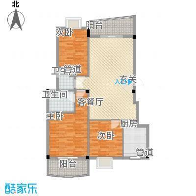 泉舜星园美第12.82㎡5号楼户型3室2厅2卫1厨
