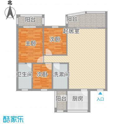 庆峰花园121.00㎡户型3室