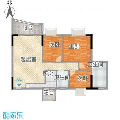 庆峰花园125.00㎡户型3室