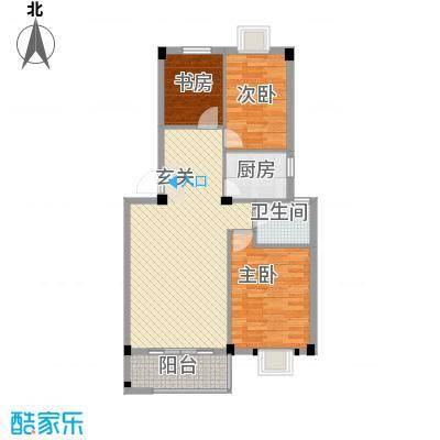 富都广场136.00㎡户型3室