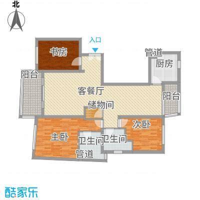 陆家嘴中央公寓15.00㎡户型3室