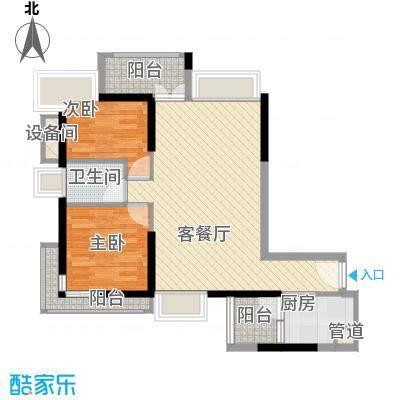 深物业新华城81.00㎡天盛阁4-30F户型
