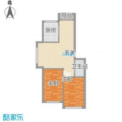 古楼广场古龙广场2居室户型2室2厅1卫1厨