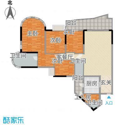 珠江帝景苑24.32㎡双子星殿04单位户型4室2厅2卫
